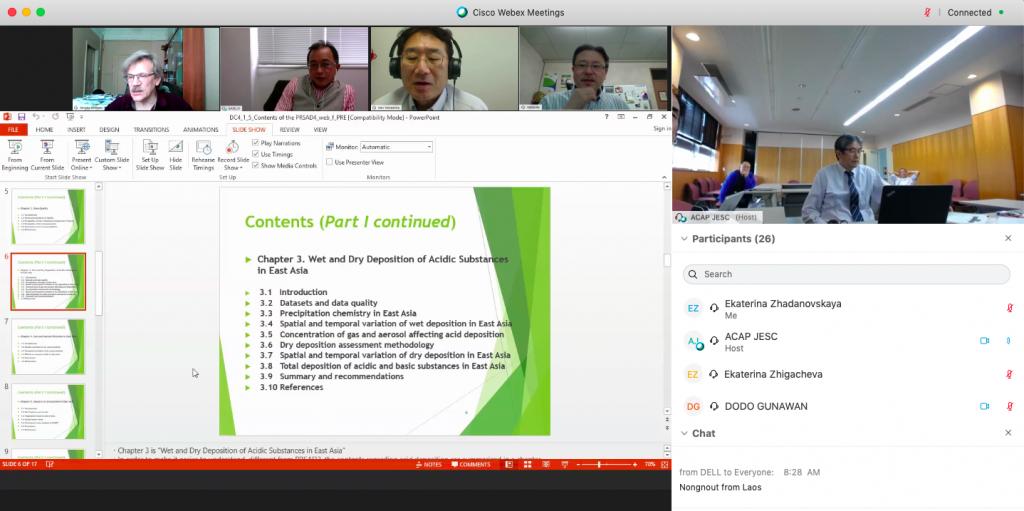 Участие сотрудников ИГКЭ в работе Комитета по подготовке 4-го Периодического отчета о кислотных выпадениях в Восточной Азии (Программа ЕАНЕТ)-(2020-2021)