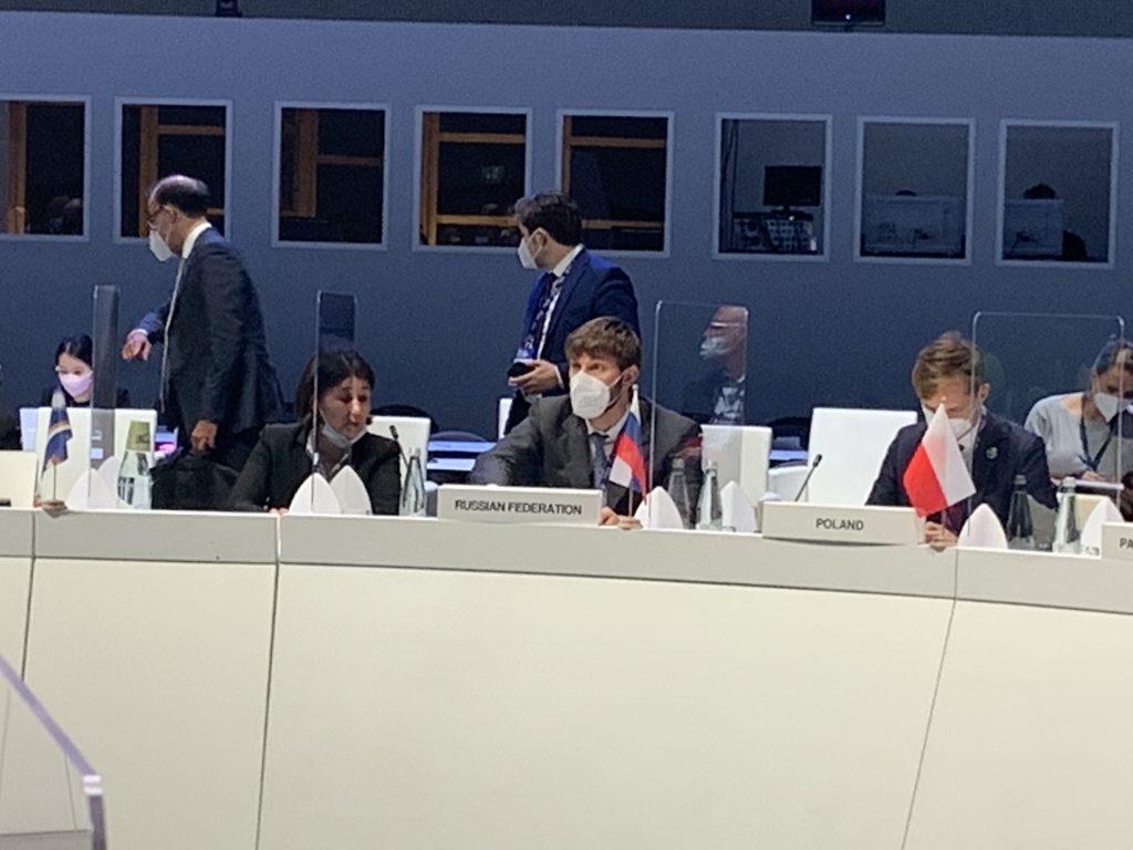 В период с 30 сентября по 2 октября 2021 года в г. Милан, Италия, прошла министерская встреча в рамках подготовки к 26-й Конференции Сторон РКИК ООН в г. Глазго, Великобритания, в ноябре этого года. Российскую делегацию возглавлял Советник Президента Российской Федерации по вопросам изменения климата Р.С.-Х. Эдельгериев. От ИГКЭ в работе делегации участвовала директор Романовская А.А.